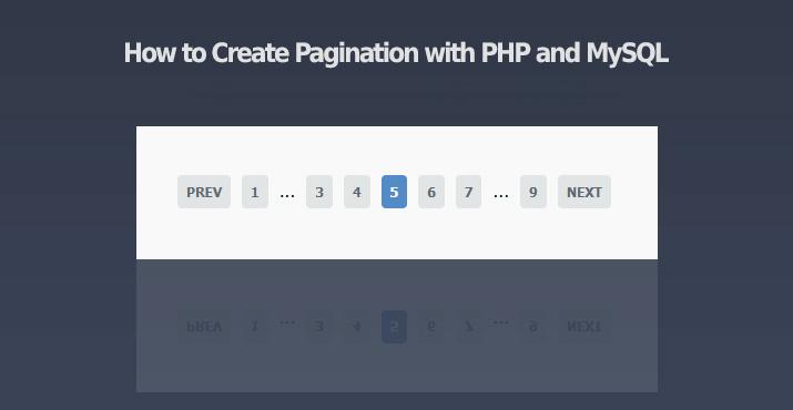 thuật toán phân trang trong php mysql pagination